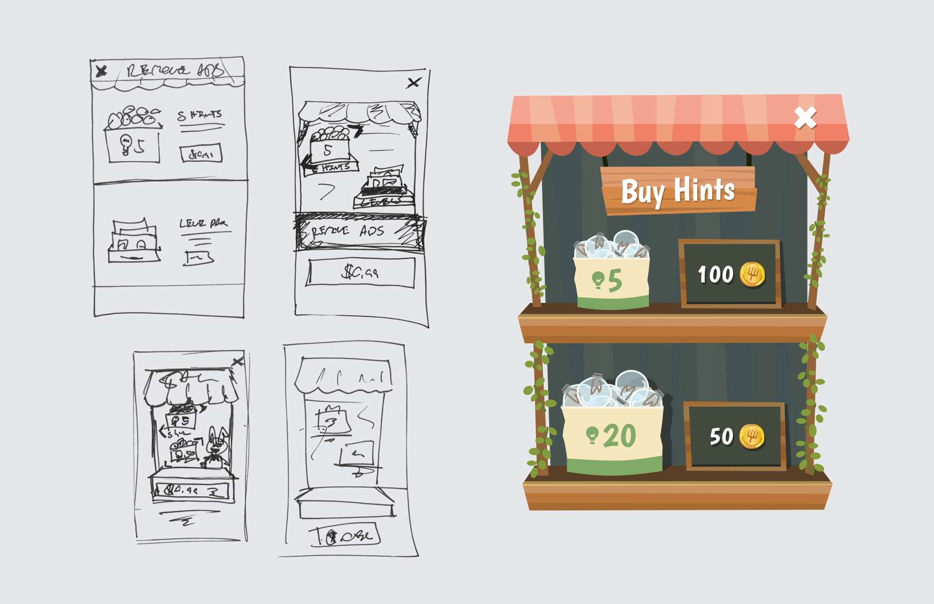 Patchmania Sketches and UI Result