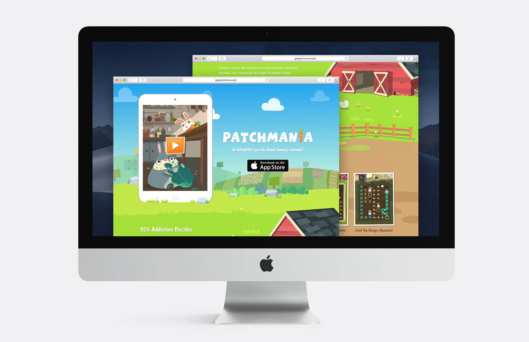Patchmania Website on an iMac